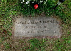 Barbara Christina <I>Martin</I> Campbell