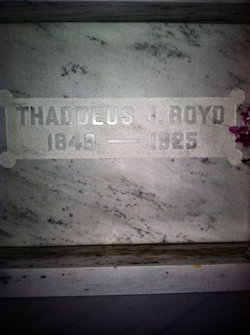 Thaddeus J Boyd