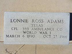 Lonnie Ross Adams