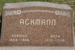 Anna <I>Humbracht</I> Ackmann