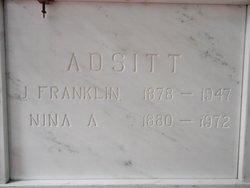 "John Franklin ""Frank"" Adsitt"
