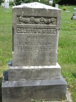 Calista Abi <I>Kibbe</I> Adams