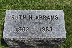 Ruth <I>Hunt</I> Abrams