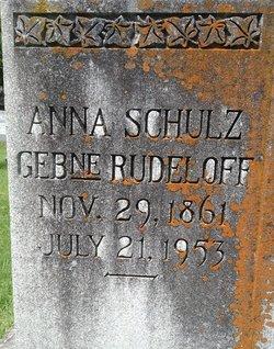 Anna Dorothea <I>Rudeloff</I> Schulz