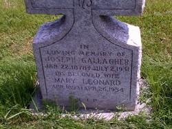 Mary <I>Leonard</I> Gallagher