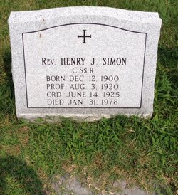 Rev Henry Joseph Simon