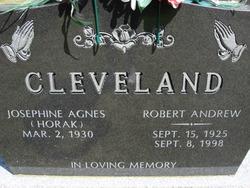 "Josephine ""Josie"" <I>Horak</I> Cleveland"