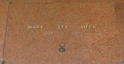 Mary Lee <I>Davenport</I> Meek