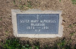 Sr Mary Alphonsus Wilkinson