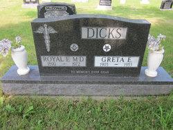Greta Elizabeth <I>Gustufson</I> Dicks