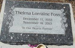 Thelma Lorraine Foss