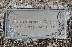 Ruth <I>Goforth</I> Koehler