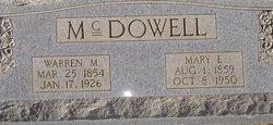 Mary Ellener <I>Cook</I> McDowell
