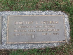 Dorothy Loraine <I>Ferris</I> Axthelm