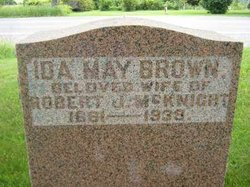 Ida May <I>Brown</I> McKnight