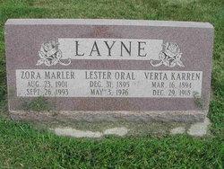 Verta <I>Karren</I> Layne