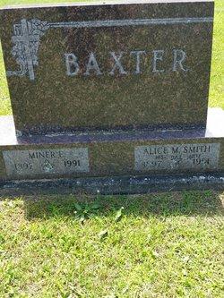 Alice M <I>Smith</I> Baxter