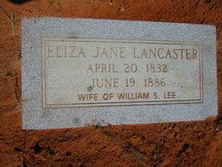 Eliza Jane <I>Lancaster</I> Lee