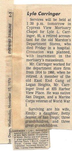 Lyle Lawrence Carringer