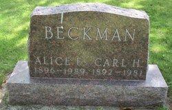 Alice Emelia <I>Ellison</I> Beckman