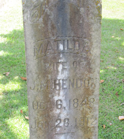Matilda <I>Logan</I> Hendon