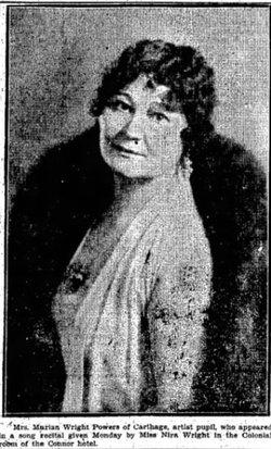Marian Lucy <I>Wright</I> Powers