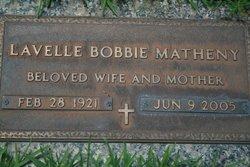 "Lovelle Violet ""Bobbie"" <I>Plumlee</I> Matheny"