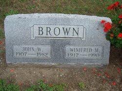 "Winifred M ""Winnie"" <I>Wortley</I> Brown"