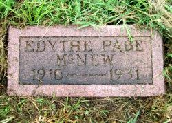 Edythe <I>Page</I> McNew