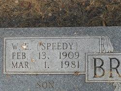 "Willie E ""Speedy"" Braden"