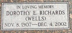 Dorothy Eva <I>Wells</I> Richards