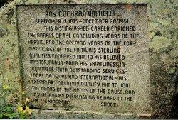 Roy Cochran Wilhelm