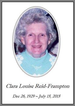 Clara Louise <I>Reid</I> Frampton
