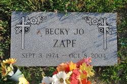"Rebecca Jo ""Becky"" Zapf"