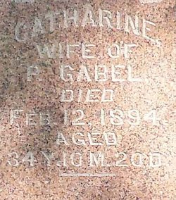 Catherine <I>Muth</I> Gabel
