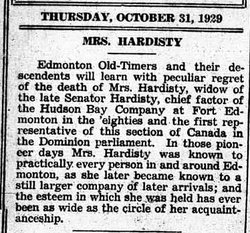 Eliza Victoria McDougall Hardisty (1849-1929) - Find A Grave