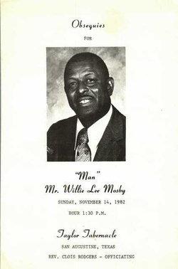 Willie Lee Mosby