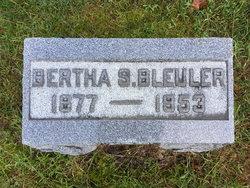 Bertha <I>Spencer</I> Bleuler