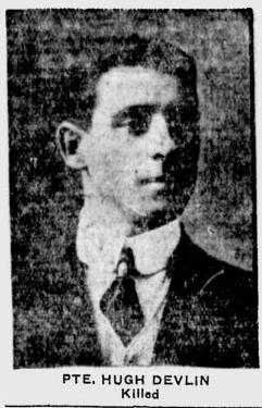 Pvt Hugh Devlin