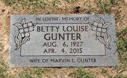 Betty Louise <I>Hopkins</I> Gunter