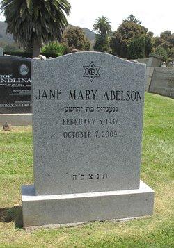 Dr Jane <I>Rosenzweig</I> Abelson