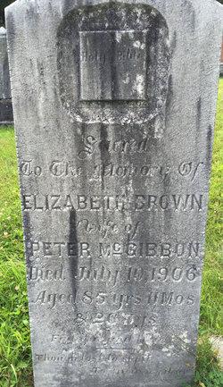 Elizabeth <I>Brown</I> McGibbon