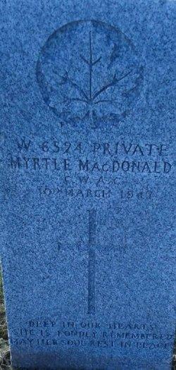 Pvt Myrtle <I>Hillier</I> MacDonald