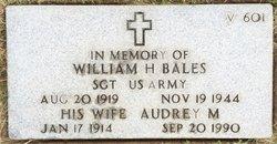 SGT William H Bales