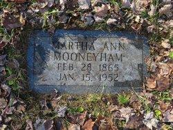 Martha Ann <I>Ball</I> Mooneyham