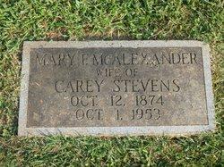 Mary Frances <I>McAlexander</I> Stevens