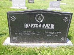 Catherine Steele <I>Currie</I> MacLean