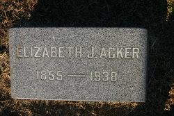 Elizabeth Jane <I>Stout</I> Acker