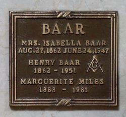 Isabella <I>Johnston</I> Baar