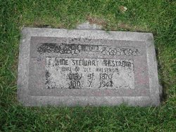 "Elizabeth ""Jane"" <I>Stewart</I> Ahlstrom"
